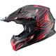 Black/Red MX86 Step Helmet