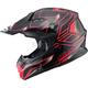 Black/Red MX86 Step Helmet