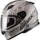 Flat White/Silver FF49 Elegance Snowmobile Helmet w/Dual Lens Shield