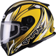 Yellow/White/Black FF49 Sektor Snowmobile Helmet