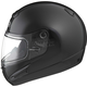 Black GM38S Snowmobile Helmet w/ Dual Lens Electric Shield