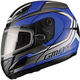 Blue/Silver/Black GM44S Glacier Modular Snowmobile Helmet