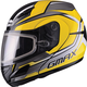 Yellow/Silver/Black GM44S Glacier Modular Snowmobile Helmet