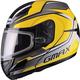 Yellow/Silver/Black GM44S Glacier Modular Snowmobile Helmet