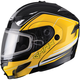 Black/Yellow GM54S Terrain Modular Snowmobile Helmet