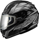 Black/Dark Silver GM64S Carbide Modular Snowmobile Helmet w/Dual Lens Shield