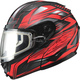 Black/Red GM64S Carbide Modular Snowmobile Helmet w/Dual Lens Shield