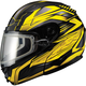 Black/Yellow GM64S Carbide Modular Snowmobile Helmet w/Dual Lens Shield
