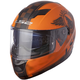Matte Orange/Black Stream Fan Helmet