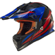 Black/Blue/Red Fast Race Helmet