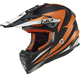 Orange/Black Fast Race Helmet