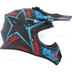 Black/Blue/Red TX 707 Carbon Fiber Helmet