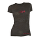Womens Black Burnout T-Shirt