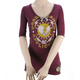 Womens Dark Hearts 3/4 Sleeve Tee