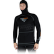 Black Merino Balaclava Pullover Long Sleeve Shirt