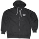 Black/White Stealth Zip Hoody