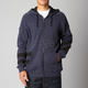 Heather Navy Rebate Zip Hoody