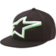 Black Mackey Flatbill Hat
