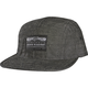 Black Drifted Snapback Hat - 10046-001-OS