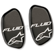 Black Metallic Brush Hinge Cover Stickers for Fluid Pro and Fluid Tech Knee Brace - 6952514-170