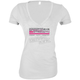 Womens White Dogs of War V-Neck T-Shirt