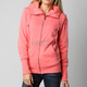 Womens Salmon Forged Sherpa Zip Hoody