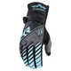 Womens Charcoal/Blue DKR Gloves