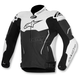 Black/White ATEM Leather Jacket