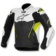 Black/White/Yellow ATEM Leather Jacket