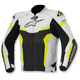 Black/White/Yellow Celer Leather Jacket
