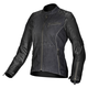 Womens Black Renee Textile/Leather Jacket