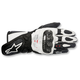 Women's Black/White Stella SP-1 Leather Gloves