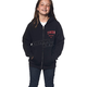 Girls Black Shop Zip-Up Hoody