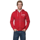 Red/White Shop Zip-Up Hoody
