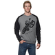 Black/Gray Poppa Crew Sweatshirt