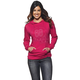 Womens Pink Button Pullover Hoody