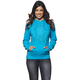 Womens Aquamarine Button Pullover Hoody