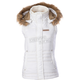 Womens White Hooded Vest