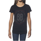 Girls Black Button T-Shirt