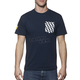 Navy Chex Pocket T-Shirt