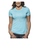 Womens Tahiti Blue Button T-Shirt
