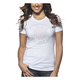 Womens White Heather Button T-Shirt