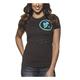Womens Dark Chocolate Gasket T-Shirt