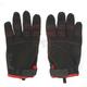 Black/Red Moto Gloves