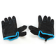 Black/Blue Moto Gloves
