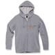 Women's Heather Gray Ageless Gradient Zip Hoody