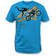 Turquoise Moto Photo T-Shirt