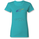 Women's Blue Ageless Gradient T-Shirt