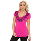 Womens Hot Pink Mandala T-Shirt