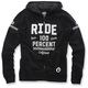 Black Flat Track Fleece